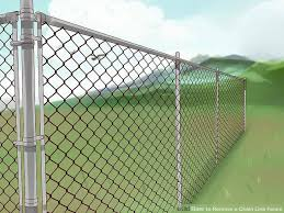 chain link fence. Image Titled Remove A Chain Link Fence Step 5