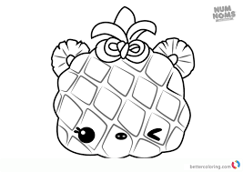 Num Noms Coloring Pages Series 3 Piney Apple Free Printable