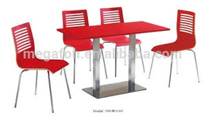 Modern Canteen Red Table chairs Set Restaurant Furniture foh xm19