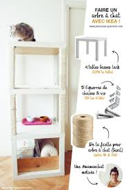 Cat Tree with IKEA LACK Tables. Combine 3 LACK tables together to create a  comfortable house for your cats.