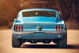 1967 Ford Mustang Fastback Rear by AmericanMuscle | Mustangs ...