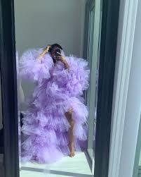 "Oyemwen on Instagram: ""Spring 💜💜💜 #shopoyemwen"" | Tutu skirt women,  Tulle skirts outfit, Queen fashion"