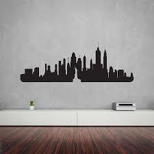 new york city skyline wall art decal