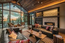 mountain modern furniture. Rustic-contemporary-ski-lodge-aspen-leaf-interiors-01- Mountain Modern Furniture