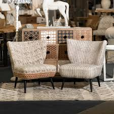 eclectic outdoor furniture. Buy Indian Print Upholstered Wing Chairs | Eclectic Furniture Burford Garden Company Outdoor