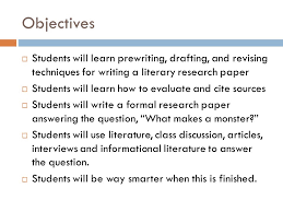 research paper english iii objectives  students will learn  2 research paper english iii