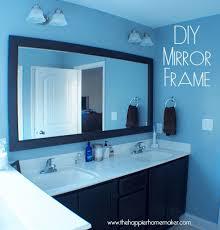 black framed bathroom mirrors. DIY Bathroom Mirror Frame With Molding The Happier Homemaker Intended For Framed Mirrors Bathrooms Remodel 3 Black