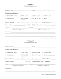Time Off Request Form Pdf Unique Time Off Request Template Absence Form 9 For Vacation