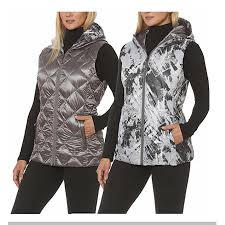 Gerry Size Chart Gerry Womens Reversible Down Packable Hooded Vest