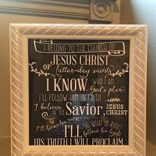 I Belong To The Church Of Jesus Christ Flip Chart I Belong To The Church Of Jesus Christ Lds Primary Song 8 X 10 And 11 X 14 Poster Size