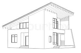 modern architectural sketches. Architectural Drawing At Home In The Perspective, Stock Photo Modern Sketches