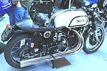 showing shadow engine finish in a manx norton frame forks swinging arm and wheels with rear hub reversed to suit the vincent timing side final drive