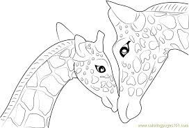 Small Picture Mother And Baby Giraffe Coloring Page Free Giraffe Coloring