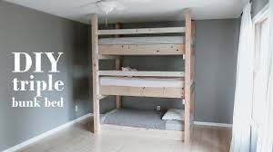 3 Bunk Beds Designs Diy Minimalist Triple Bunk Bed Less Than 200