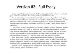 essay topics for the giver  essay topics for the giver
