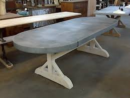 images zinc table top: imgjpg oval shaped zinc top table