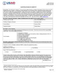 Aid For U certification International Development Form Forms 507-1 Of Agency Identity s