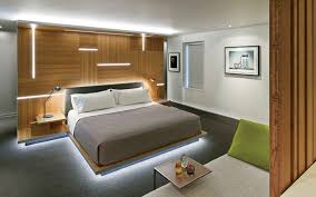 Lighting bed Custom This Platform Bed Is Surrounding By Glowing Light Contemporist Examples Of Beds With Hidden Lighting Underneath Contemporist