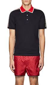 gucci polo. gucci logo striped polo shirt - tops 505387903
