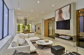 family room ideas with tv. White Lacquer Tv Family Room Contemporary With Modern Fireplace Crescendo Designs Ideas M