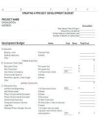 Non Profit Annual Budget Template Sample Nonprofit Operating