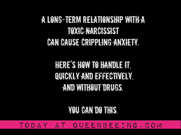 toxic relationships identifying and managing anxiety caused by narcissistic abuse queenbeeing