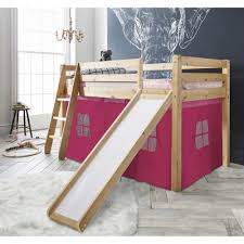 bunk bed with slide. Interesting With Cabin Bed Thor Midsleeper With Slide U0026 Pink Tent Throughout Bunk With
