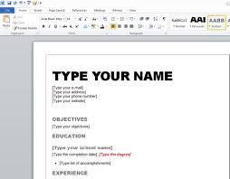 resume template on word   seangarrette coeducation objective resume format microsoft word type your name   resume template on word