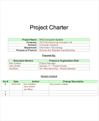 project charter sample 8 project charter templates free pdf word documents download