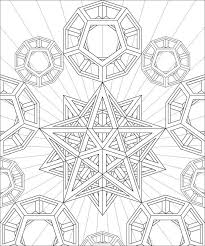 Sacred Geometry Coloring Page Adult Coloring Pages Abstract