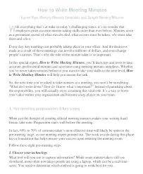 Writing Meeting Minutes Template Jovemaprendiz Club