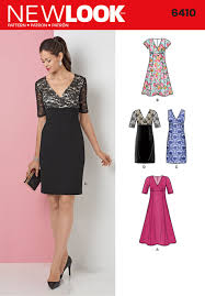 New Look Patterns Beauteous New Look Pattern 48 Dress With Skirt And Fabric Variations