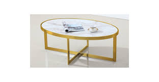 windsor oval marble coffee table