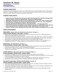 Sample Resume Objectives For Business Management New Manager Resume