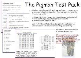 literary exams page the pigman test pack click here to see image sample page