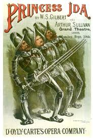 For costume reference--an 1880s DOC touring poster for Princess Ida | Comic  book cover, Prue, Touring