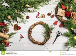 How To Make Christmas Door Wreath. The Working Process. The ...