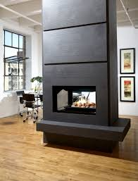 on the wall with some natural stones look alike modern ventless gas fireplace living room