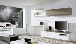 Wall Unit Desk Combo Love The Tv Desk And Wall Mounted Unit Looks As If Its All