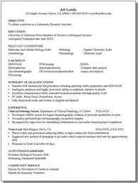 Resume For Biology Majors - Good Idea For Any Major If You Need A ...