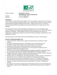 Immigration Attorney Cover Letter Perfect Resume