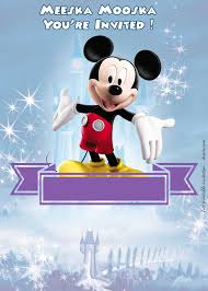 Free Mickey Mouse Template Download Free Mickey Mouse Clubhouse Disney Castle Invitation