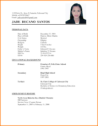 Gallery Of 6 Curriculum Vitae Format For College Students Mail