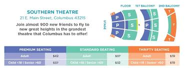 Southern Theater Seating Chart Southern Theatre Chart 2018 Columbus Childrens Theatre
