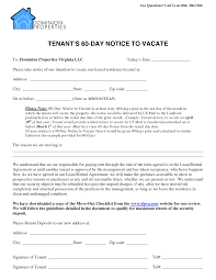 60 day notice to vacate form best photos of 90 day eviction notice template 30 day eviction 60 day notice to vacate form
