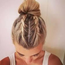 6two french braids bun