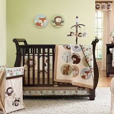 Baby Nursery Elegant Brown Cute Animal Boy Baby Crib Sets Also