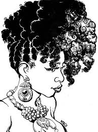 49 black and white cornrow curly puff