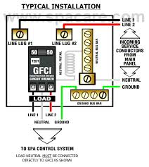 spa gfci wiring diagram wiring diagram schematics baudetails info how to wire a gfci breaker