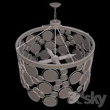 3d models ceiling light emery recycled chandelier emery recycled indoor outdoor glass chandelier
